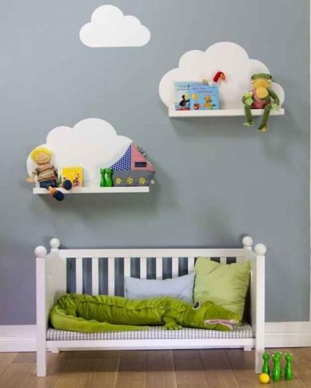 bf89c0db1f6 Αντίστοιχα, μπορείτε να τοποθετήσετε τα ράφια στη μία γωνία του βρεφικού  δωματίου, δημιουργώντας έτσι μία φωλίτσα αφιερωμένη στα βιβλία. Όταν το μωρό  σας ...