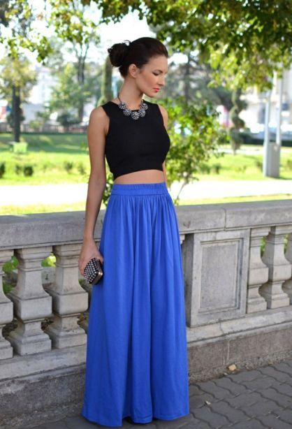 e613547eff32 Πώς να φορέσω μακριά φούστα