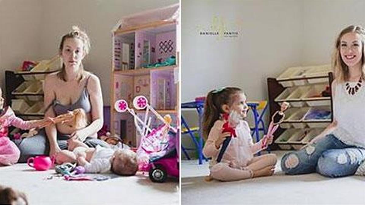 Το αληθινό πρόσωπο της επιλόχειας κατάθλιψης μέσα από 2 φωτογραφίες