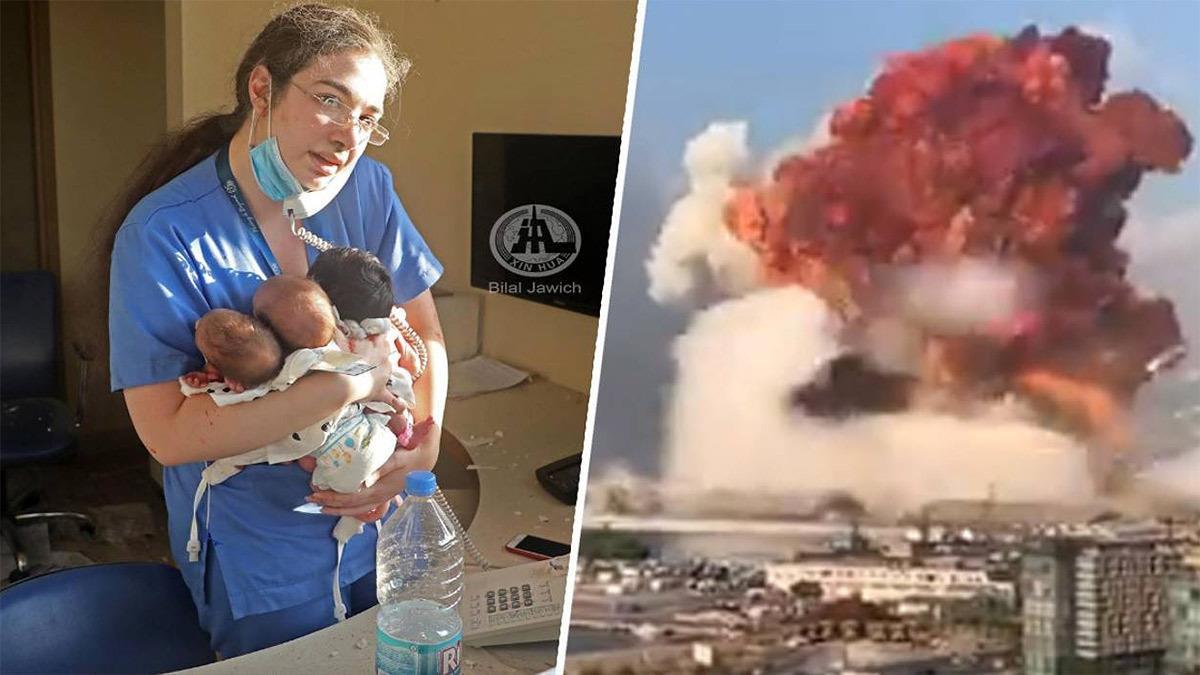 Βηρυτός: μαία σώζει τρία νεογνά από την έκρηξη σφίγγοντάς τα στην αγκαλιά της!