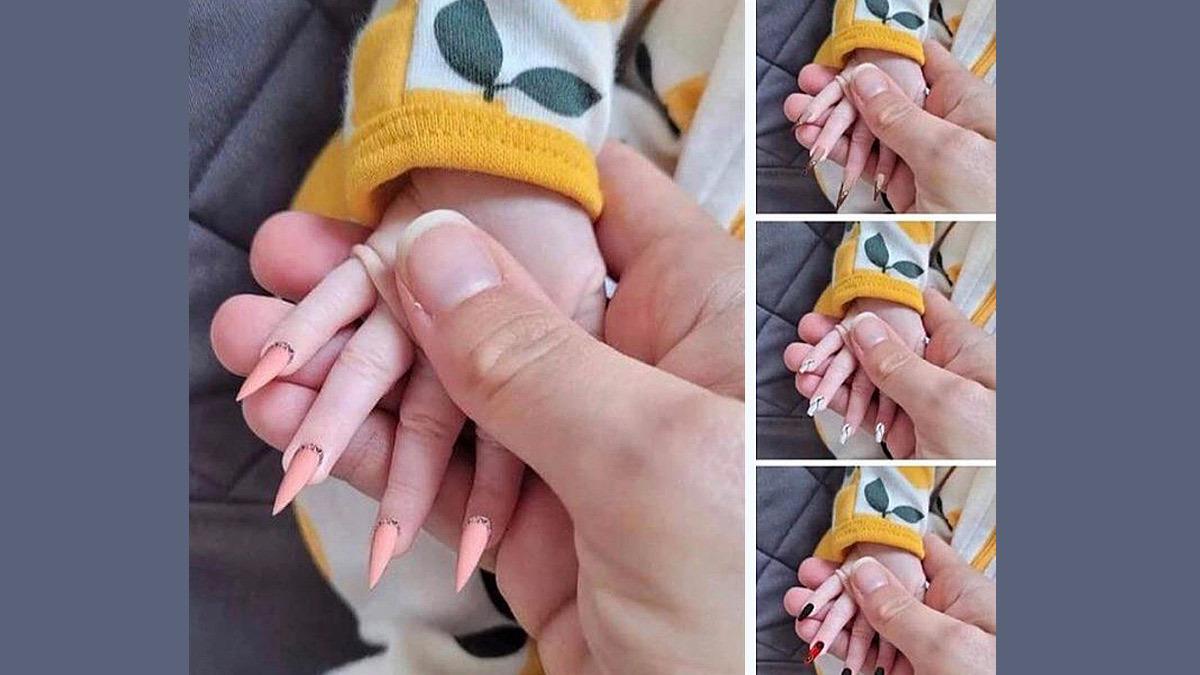 Μαμά βάζει ψεύτικα νύχια στο μωρό της αδιαφορώντας για το πόσο επικίνδυνα είναι