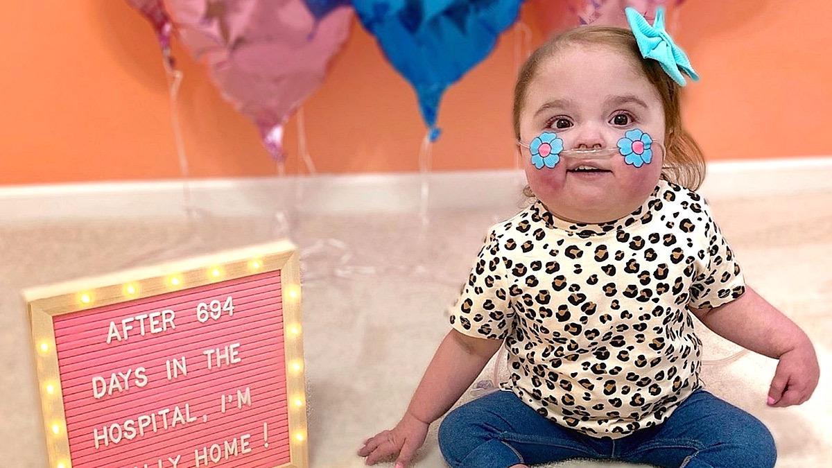 Μωράκι με πρόβλημα στην καρδιά πάει σπίτι του μετά από 694 μέρες στο νοσοκομείο