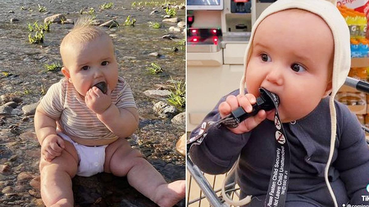 Μαμά αφήνει το μωρό της να βάζει στο στόμα ό,τι βρει για να αποκτήσει αντισώματα