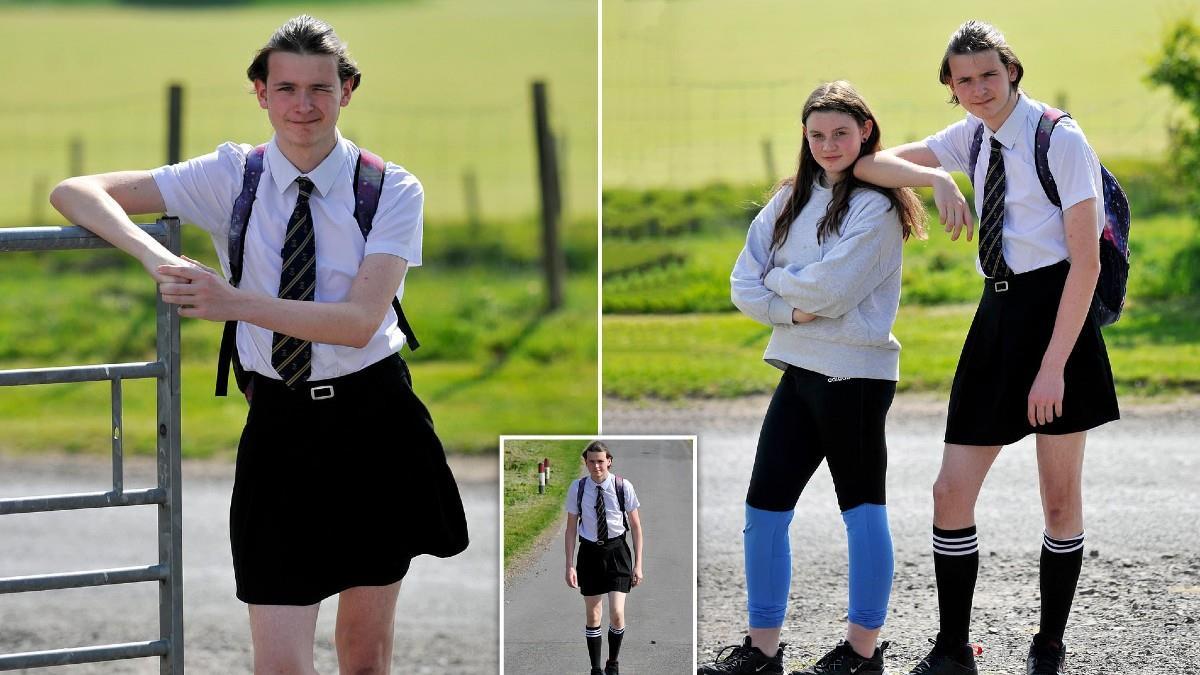 Έφηβος πήγε στο σχολείο με φούστα επειδή του απαγόρευσαν να φοράει σορτς