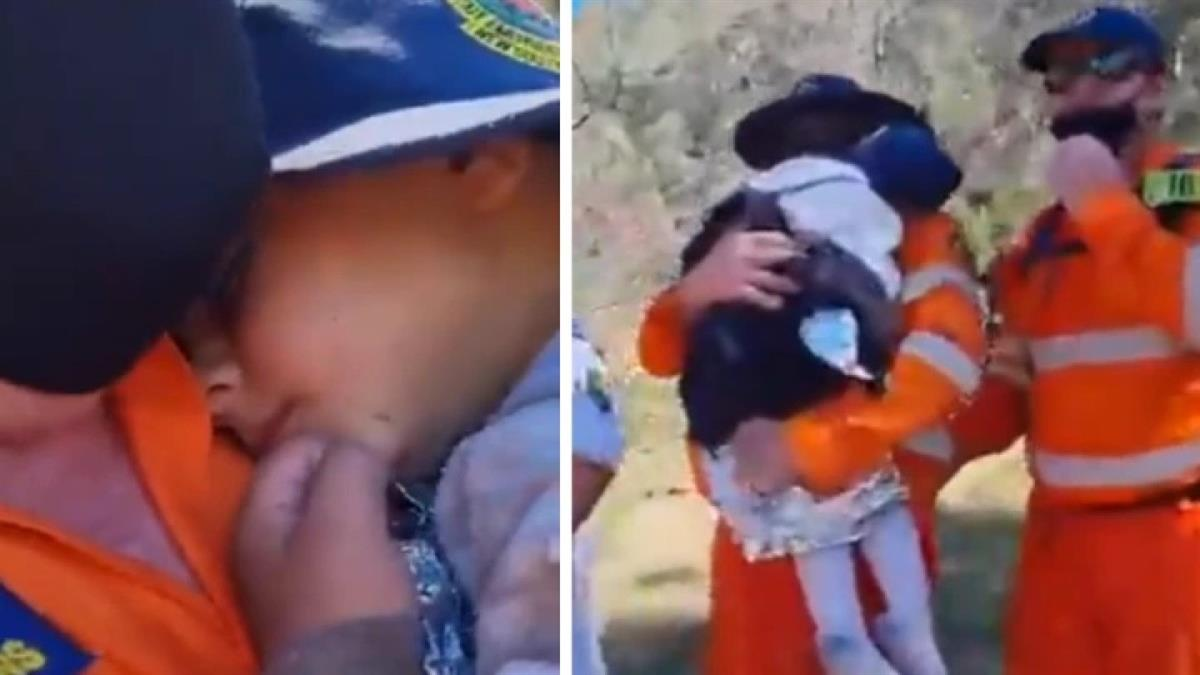 Μαμά αγκαλιάζει με ανακούφιση το 3χρονο αγοράκι της που ήταν εξαφανισμένο 3 μέρες