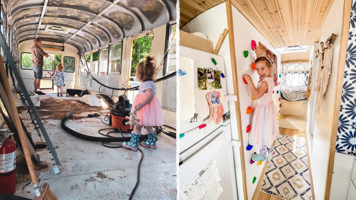 Μετέτρεψαν σχολικό σε κινούμενο σπίτι και γυρίζουν τον κόσμο με τα παιδιά τους