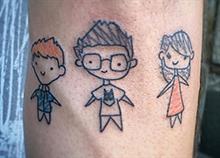 9 πρωτότυπα τατουάζ γονιών αφιερωμένα στα παιδιά τους