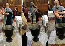 Ιερέας παραλίγο να πνίξει μωρό την ώρα της βάφτισης επειδή… έκλαιγε