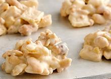 Πώς να φτιάξετε βραχάκια με λευκή σοκολάτα