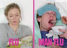Πώς αρρωσταίνουν οι άντρες και πώς οι γυναίκες: Το χιουμοριστικό βίντεο που λέει την αλήθεια!