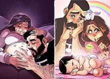 Από το πρώτο καρδιοχτύπι, μέχρι το πρώτο παιδί: η ζωή ενός ζευγαριού μέσα από 13 συγκινητικά σκίτσα