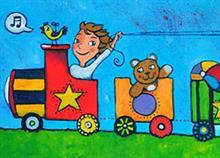 Διακόσμηση τοίχου για το παιδικό δωμάτιο