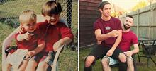 Αδέρφια αναδημιουργούν τις παιδικές τους φωτογραφίες για να τις κάνουν δώρο στη μητέρα τους