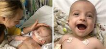 Ένα μωρό ξύπνησε απ' το κώμα και χαμογέλασε πλατιά στον μπαμπά  του