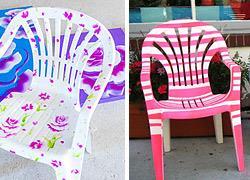 12 τρόποι να μεταμορφώσετε τις πλαστικές καρέκλες