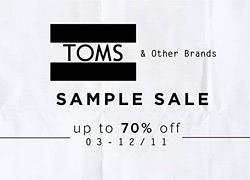 Εκπτώσεις μέχρι 70% σε αξεσουάρ TOMS και άλλα επώνυμα προϊόντα