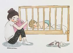 Πώς είναι η καθημερινότητα μιας μαμάς στο σπίτι με ένα 2χρονο παιδί: 24 τρυφερά σκίτσα