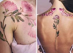 15 εντυπωσιακά τατουάζ με λουλούδια που μοιάζουν με... ζωγραφιές