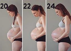 Πώς μεγαλώνει η κοιλιά μιας μαμάς που περιμένει τρίδυμα