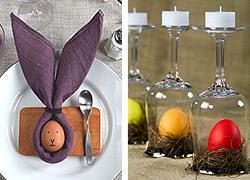 Πώς να στολίσετε το τραπέζι με τα πασχαλινά αυγά