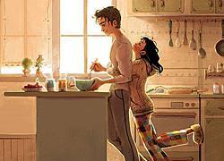«Η αληθινή αγάπη βρίσκεται στις απλές στιγμές μας»: 11 τρυφερά σκίτσα