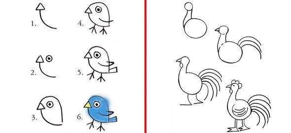 10 κόλπα για να ζωγραφίζει το παιδί ζωάκια στο λεπτό