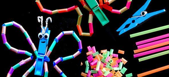 9 απλές αλλά εντυπωσιακές κατασκευές με καλαμάκια για μικρά παιδιά!