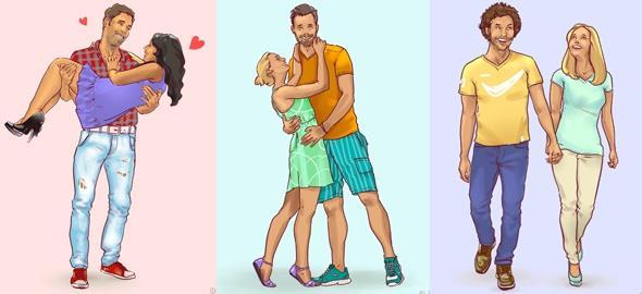 Ποιο απ' αυτά τα ζευγάρια είναι το πιο ευτυχισμένο; Η απάντηση μαρτυρά πολλά για τη σχέση σας
