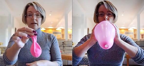 Τι συμβαίνει στο σώμα μας κατά τον τοκετό: Μια αναπαράσταση με ένα μπαλόνι κι ένα μπαλάκι του πινγκ-πονγκ