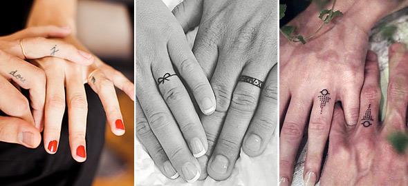 Τατουάζ-βέρες: 15 ρομαντικά σχέδια για ζευγάρια