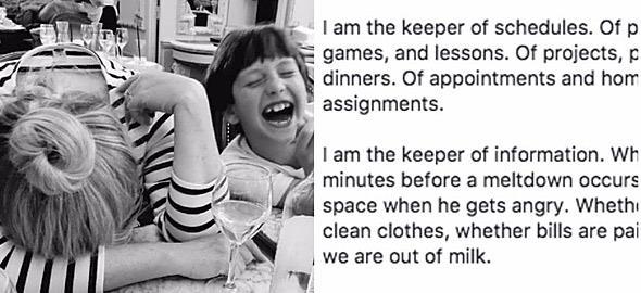 «Εγώ είμαι η υπεύθυνη για όλα»: Ένα κείμενο για τα βάρη που σηκώνει μόνη της κάθε μαμά